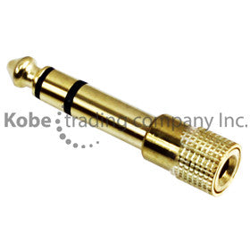 "ADA-21105 Audio Adapter 1/4"" (6.35mm) Stereo Male to 3.5mm Stereo Female - KobeUSA"