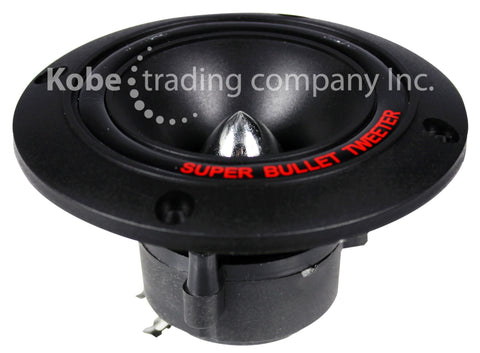 "ALT-10155 4"" Bullet Super Piezo Tweeter Round, Black Color - KobeUSA"