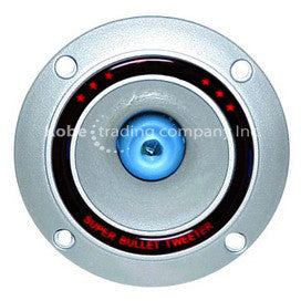 "ALT-10165 4"" Silver Bullet Tweeter with Blue LED Light - KobeUSA"