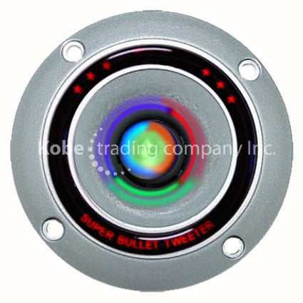 "ALT-10170 4"" Silver Bullet Tweeter with MultiColor LED Light - KobeUSA"