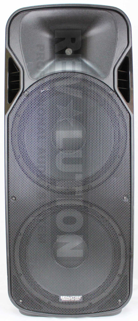 "BAF-20306 RV-F215U Dual 15"" Powered P.A. Speakers - KobeUSA"