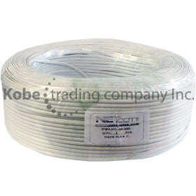 CAB-10300 White Telephone Flat Cable 4C - KobeUSA