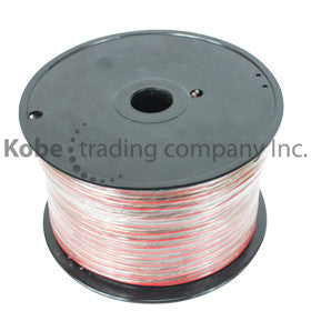 CAB-10543 Clear Speaker Cable 2x20 AWG  100m - KobeUSA