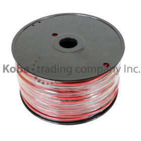 CAB-10559 Red & Black Speaker Cable 2x20 AWG 100m - KobeUSA