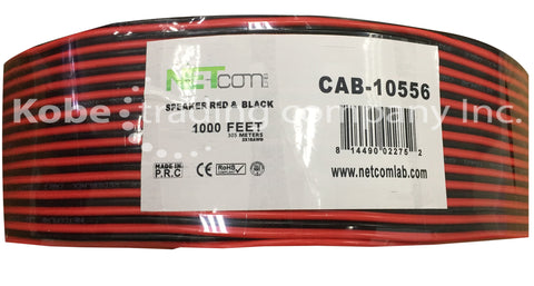 CAB-10556 Red&Black Speaker Cable 2x18 AWG - KobeUSA