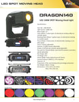 LAM-40105 Dragon140 Moving Head  pot LED - KobeUSA