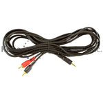 EXT-10170G 12Ft Y cab Ada heavyduty3.5mm St M to 2RCA