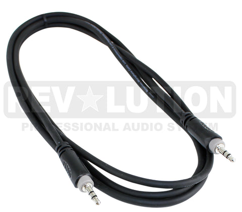 "EXT-20405 Audio Cable OFC balanced with Revolution Connectors, 3.5mm (1/8"") Stereo Male to 3.5mm (1/8"") Stereo Male - KobeUSA"