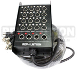 EXT-20595 H.D. Snake 16x4 with Ningbo Neutrik Connectors; Inputs:16 XLR Female, Output 4 XLR Male - KobeUSA