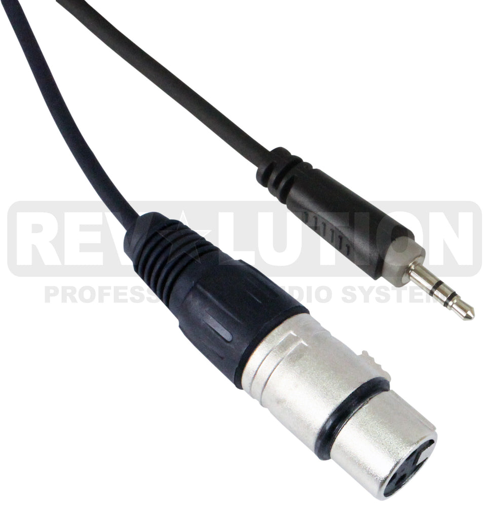 EXT-20600 Audio Cable OFC Balanced with Revolution Connectors, 3.5mm Stereo Male to XLR Female - KobeUSA