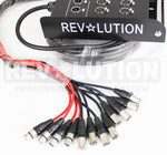 EXT-20890 H.D. Snake 8x4 with Revolution Connectors; Inputs: 8 XLR Female, Output 4 XLR Male  33ft - KobeUSA