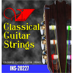 INS-20227 Multicolored Classical Guitar Strings (6 Strings) - KobeUSA