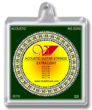 INS-20240 Acoustic Guitar Strings, Extra Light - KobeUSA