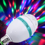LAM-41105 3W Colorful Rotating Stage RGB LED Light Bulb Xmas Party Disco DJ Lamp US