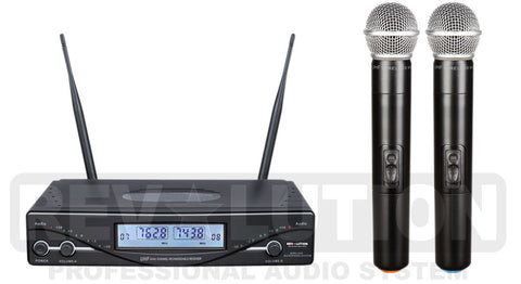 MIC-20100 UHF Dual Wireless Microphone system - REVOLUTIONPRO