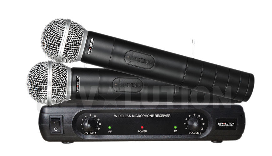 MIC-20105 VHF Dual Wireless Microphone system - REVOLUTIONPRO