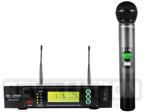 MIC-20155 UHF Wireless Microphone system - REVOLUTIONPRO