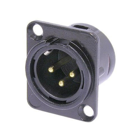 PLU-10156 XLR 3Pin Male Socket Metal Panel Mount Chassis PCB Socket - KobeUSA