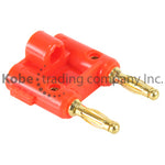 PLU-10204 Double Banana Plug RED 100 UNIT BAG