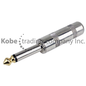 "PLU-20135 Jumbo 1/4"" (6.35mm) Mono Male with golden tip - KobeUSA"