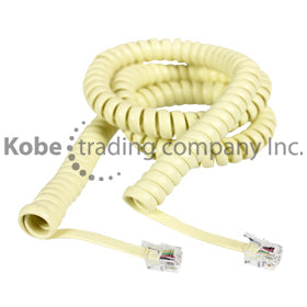 TEL-10180 COILED CABLE IVORY,15FT