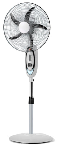 "VAR-16210 16"" RECHARGEABLE BATTERY OSCILLATING PEDESTAL ADJUSTABLE FAN STAND"