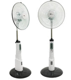 "VAR-16100 16""Rechargeable Battery Oscillating Pedestal Adjustable Fan Stand"