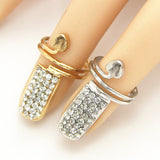 Brand Rose Gold Plated Women's Finger Nail Rings - Ring For Women