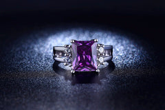 Rings Purple Amethyst - Fine Jewelry - High Quality - Ring For Women Lady's