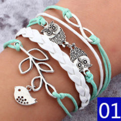 Bird Owls Anchor Bracelets