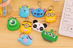 30pcs/lot Cute Anime Cartoon Silicone - Kawaii Animal Silicon Keychain