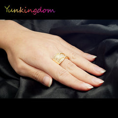 Rings for woman luxurious - Gold plated - Top Quality