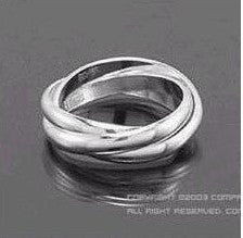 New Fashion - Fine Jewelry - Couple cross ring