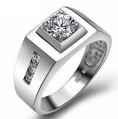 Vintage Jewelry  2016 - Silver Ring For Men - Ring Created Diamond Sterling Silver.