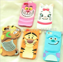 3D Cartoon  Sulley Marie Alice Cat Tigger Daisy Mickey Minnie back Cover For iPhone6, 6S, Plus.