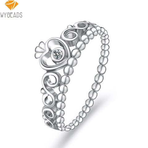 Sterling Silver My Princess Stackable - Ring Finger For Women - Fashion Jewelry