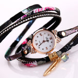 Quartz Watch Women - Flower Wristwatch Steel - Luxury Bracelet - Fim Terra