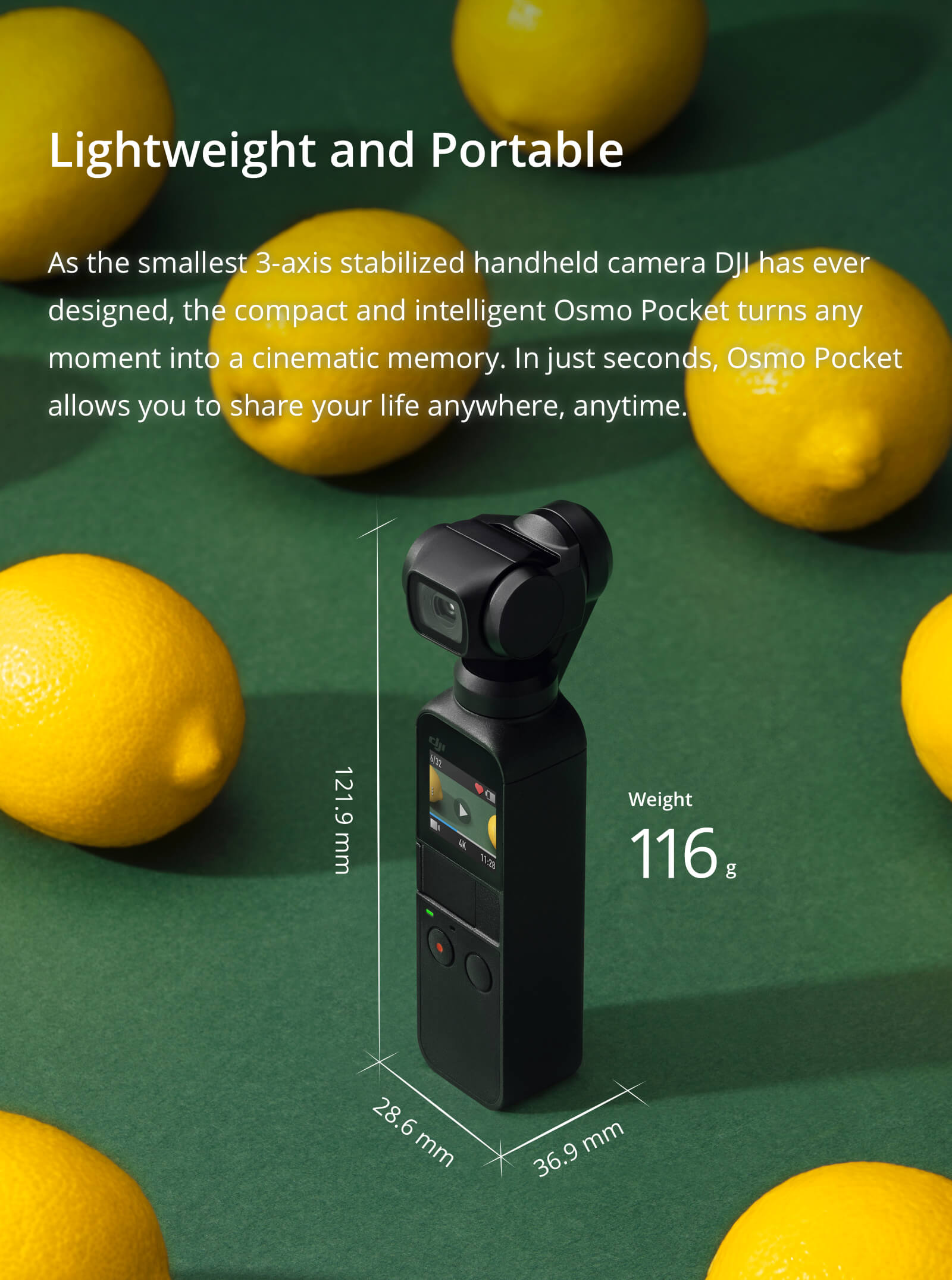 DJI Osmo Pocket Handheld Gimbal Camera - 2