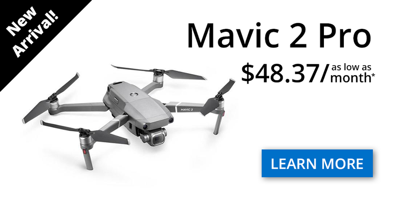 Hot New Release - DJI Mavic 2 Pro and the DJI Mavic 2 Zoom. Available at Dynnex Drones with low monthly payments using drone financing.