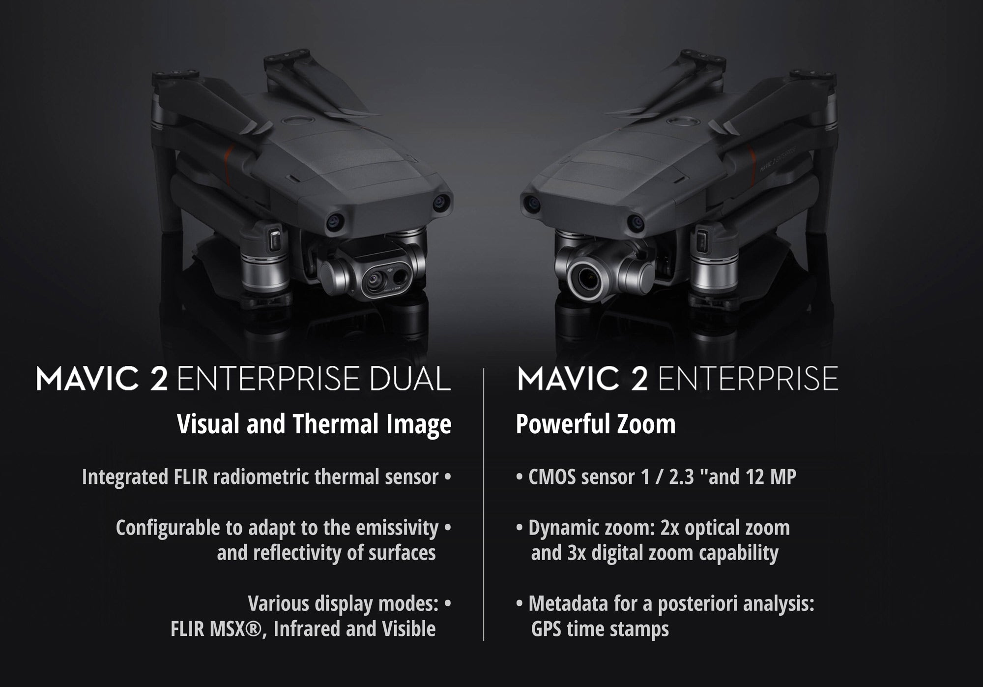 DJI Mavic 2 Enterprise Dual vs DJI Mavic 2 Enterprise Zoom
