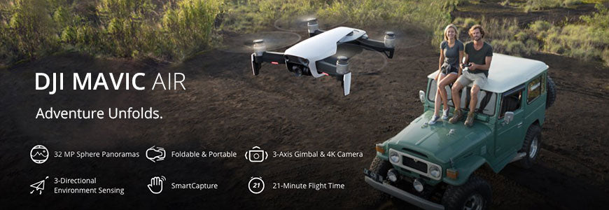 Buy DJI Mavic Air Drone at Dynnex Drones with affordable monthly payments using drone financing.