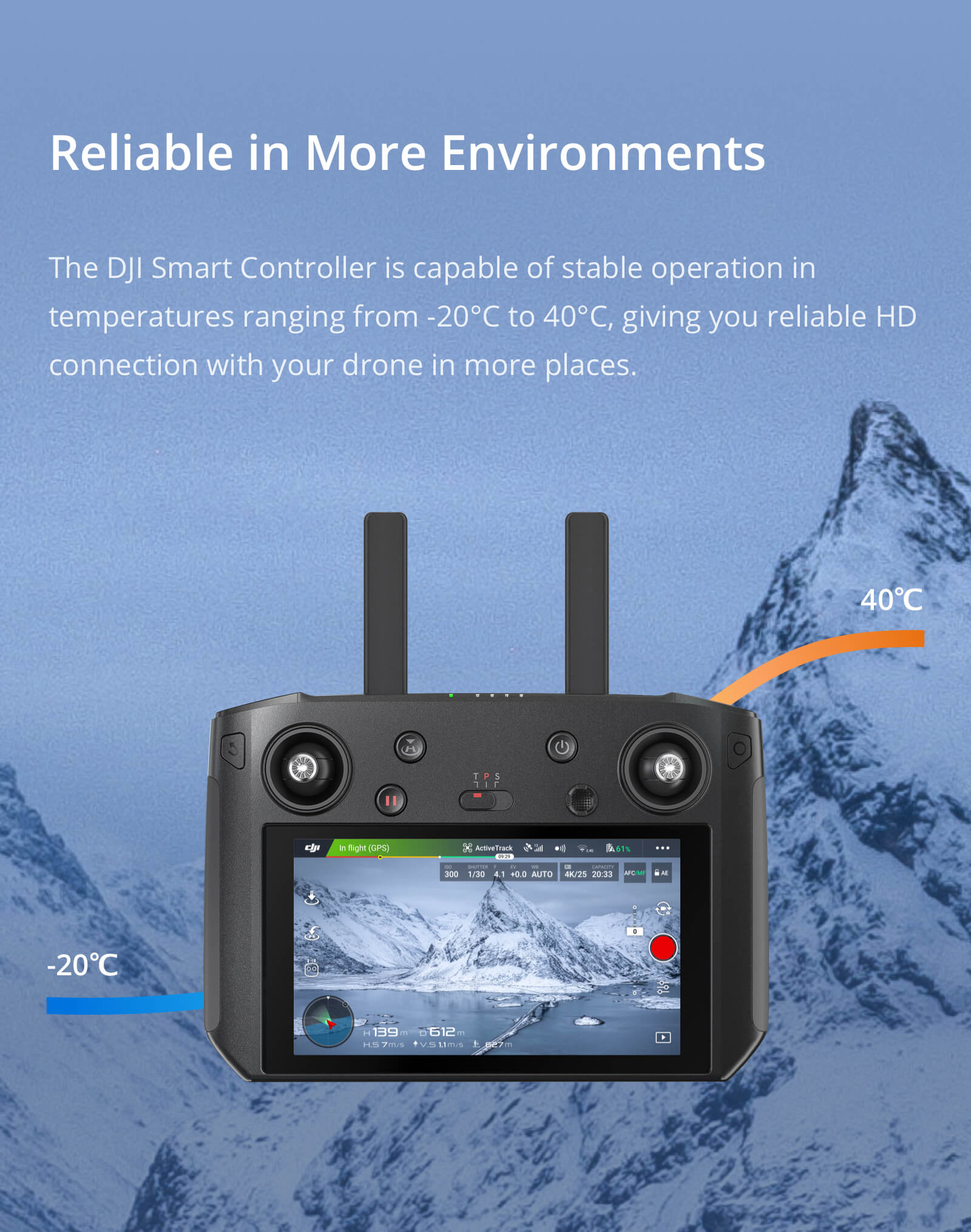 "DJI Smart Controller with 5.5"" 1080p Screen CP.MA.00000080.01"
