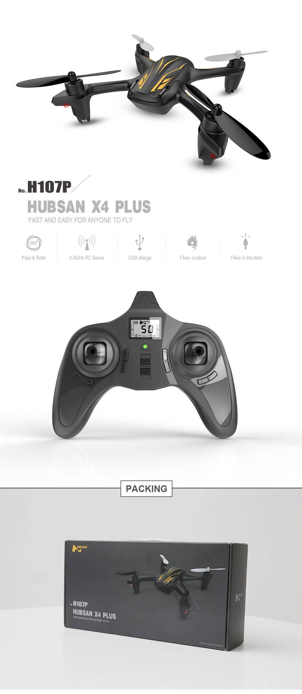 HUBSAN X4 PLUS H107P Quadcopter 2.4G 4CH RC Drone