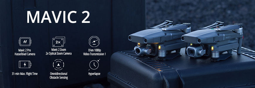 The Newest and Best drone available on the market, the DJI Mavic 2 Pro and Mavic 2 Zoom. Get them here with low monthly payments using Drone Financing.