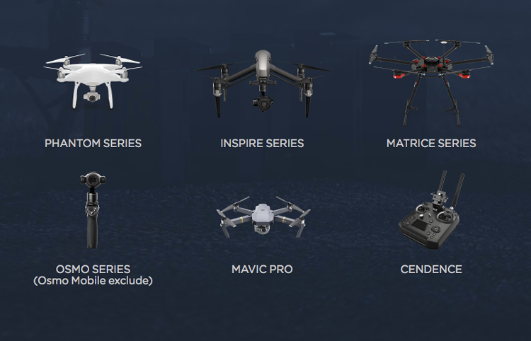 DJI AERIAL SYSTEM COMPATIBILITY