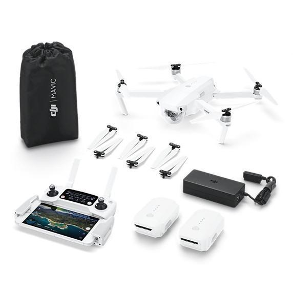 DJI™ Mavic Pro Drone with Fly More Combo Bundle - Alpine White - Limited Edition