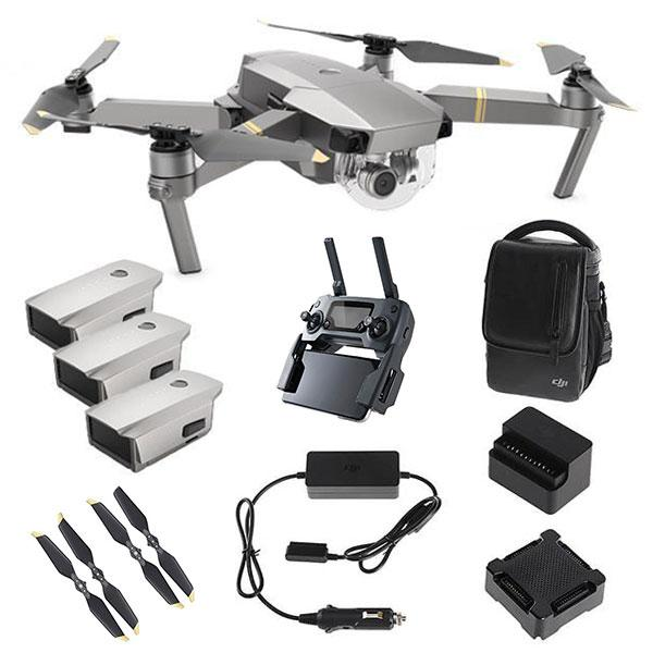 DJI™ Mavic Pro Platinum Fly More Combo (DJI-Certified Refurbished w/ Warranty)