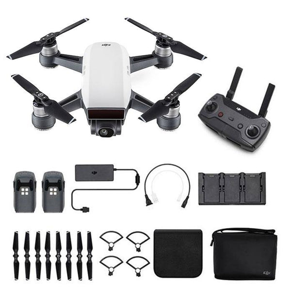 DJI Spark Mini Drone - Fly More Combo (DJI-Certified Refurbished w/ Warranty)