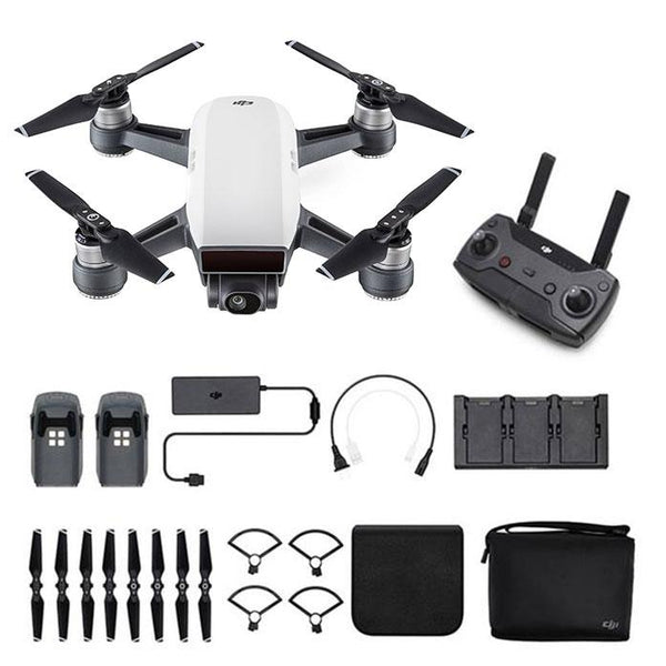 DJI™  Spark Mini Drone - Fly More Combo With Remote & Accessories - Alpine White