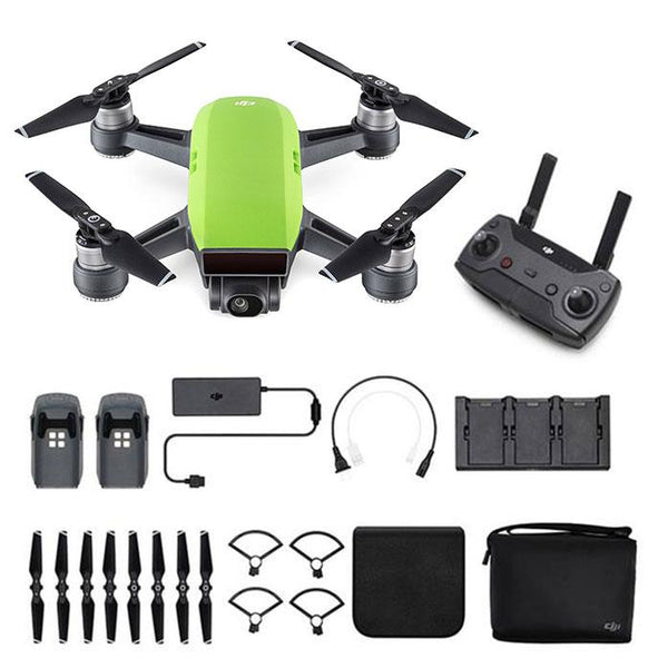 DJI™  Spark Mini Drone - Fly More Combo With Remote & Accessories - Meadow Green